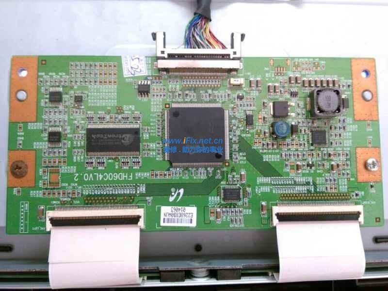 tcl46寸液晶电视机奇特花屏一列