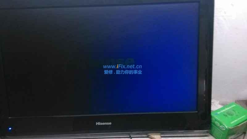 海信电视机tlm4033d黑屏有声音,故障原因及如何修理?